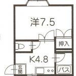 弘前 アパート ロフト付 1K 紙漉町 31,000円コーポサンルート 賃料見直し!