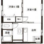 弘前 アパート 寒沢町 2DK 45,000円コーポラス橘 201号室
