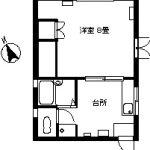 弘前 アパート 富田1丁目 ユースガーデン7 1K 105号室 35,000円