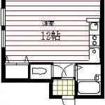 弘前 アパート 桔梗野4丁目 ベルヴューハウス 39,000円 12帖の1R